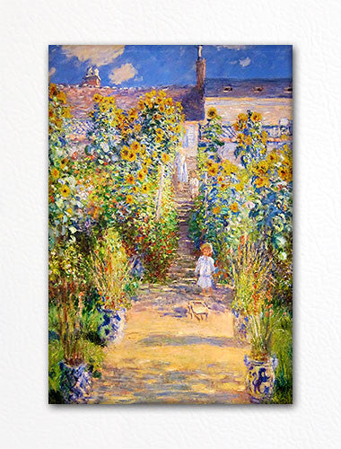 The Artist's Garden at Vetheuil Monet Fridge Magnet