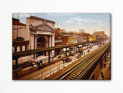 The Bowery New York City c1900 Photo Fridge Magnet