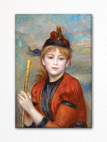 The Excursionist Renoir Painting Fridge Magnet