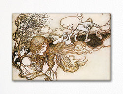 The Goose Girl Arthur Rackham Illustration Fridge Magnet