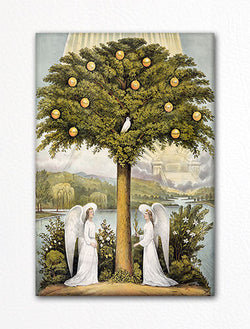 The Tree of Life Currier & Ives Fridge Magnet