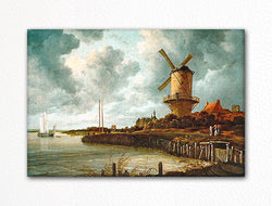 Tower Mill at Wijk bij Duurstede Windmill Fridge Magnet