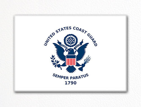 United States Coast Guard Flag Fridge Magnet