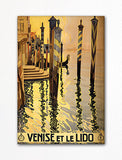 Venise Et Le Lido Venice Italy Advertising Poster Artwork Fridge Magnet