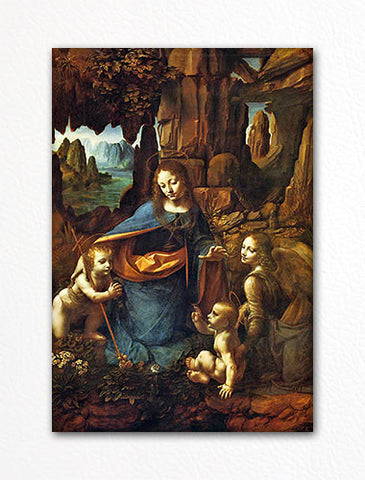 Virgin of the Rocks Leonardo da Vinci Fridge Magnet