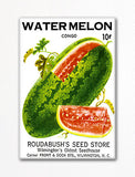 Watermelon Seed Packet Artwork Fridge Magnet