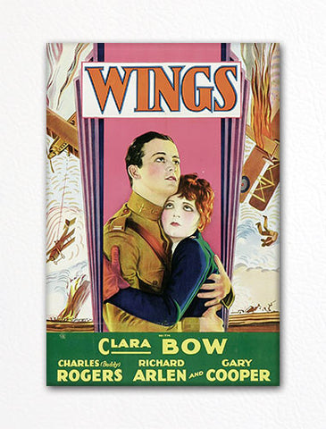 Wings Movie Poster Fridge Magnet