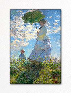 Woman with a Parasol Claude Monet Painting Fridge Magnet