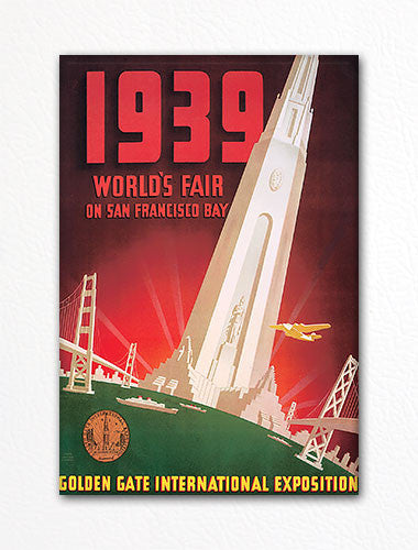 1939 Worlds Fair San Francisco Advertisement Fridge Magnet