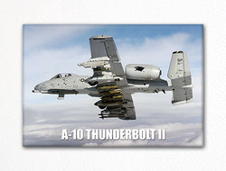 A-10 Thunderbolt II in Flight Fridge Magnet