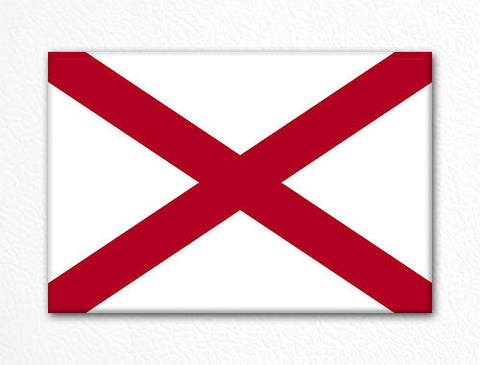 Alabama State Flag Fridge Magnet