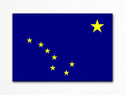 Alaska State Flag Fridge Magnet