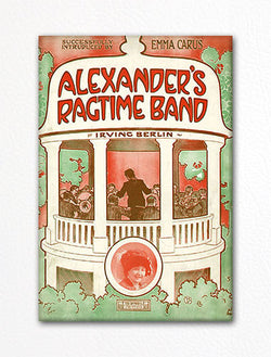 Alexander's Ragtime Band Sheet Music Cover Fridge Magnet