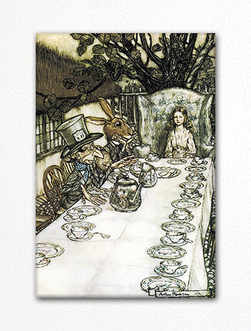 Alice in Wonderland Tea Party Illustration Fridge Magnet