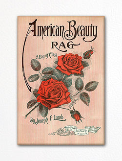 American Beauty Rag Sheet Music Cover Fridge Magnet