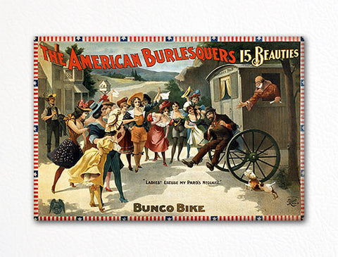 The American Burlesquers Advertising Poster Fridge Magnet