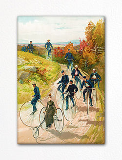 Antique Bicycles Fridge Magnet