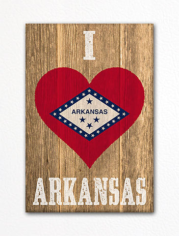 I Love Arkansas Flag Heart Fridge Magnet