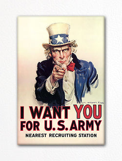 "Famous ""I Want You for U. S. Army"" Recruiting Poster Fridge Magnet"