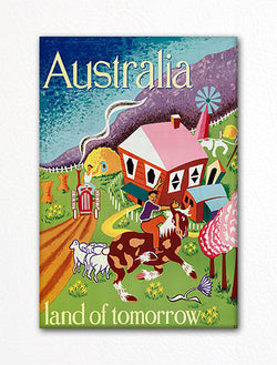Australia Tourist Poster Artwork Fridge Magnet