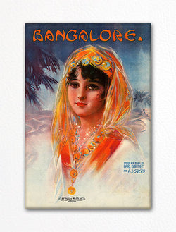 Bangalore Sheet Music Cover Fridge Magnet