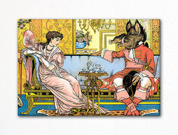 Beauty and the Beast 1874 Illustration Fridge Magnet