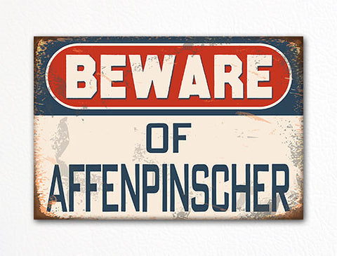 Beware of Affenpinscher Dog Breed Cute Fridge Magnet