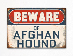 Beware of Afghan Hound Dog Breed Cute Fridge Magnet