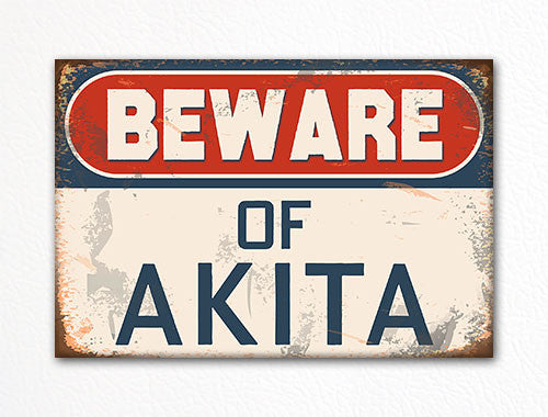 Beware of Akita Dog Breed Cute Fridge Magnet