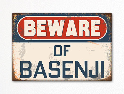 Beware of Basenji Dog Breed Cute Fridge Magnet