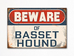 Beware of Basset Hound Dog Breed Cute Fridge Magnet