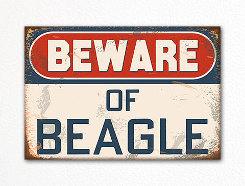 Beware of Beagle Dog Breed Cute Fridge Magnet