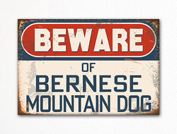 Beware of Bernese Mountain Dog Breed Cute Fridge Magnet