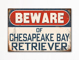 Beware of Chesapeake Bay Retriever Dog Breed Cute Fridge Magnet
