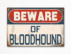 Beware of Bloodhound Dog Breed Cute Fridge Magnet