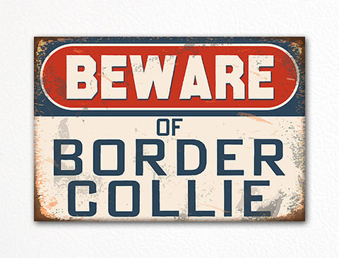 Beware of Border Collie Dog Breed Cute Fridge Magnet
