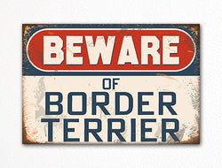 Beware of Border Terrier Dog Breed Cute Fridge Magnet