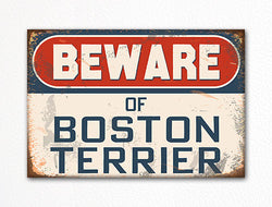 Beware of Boston Terrier Dog Breed Cute Fridge Magnet