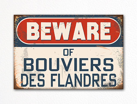 Beware of Bouviers des Flandres Dog Breed Cute Fridge Magnet