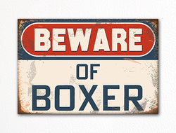 Beware of Boxer Dog Breed Cute Fridge Magnet