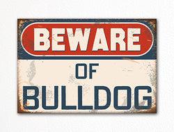Beware of Bulldog Dog Breed Cute Fridge Magnet