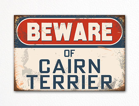 Beware of Cairn Terrier Dog Breed Cute Fridge Magnet