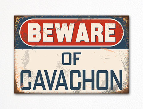 Beware of Cavachon Dog Breed Cute Fridge Magnet