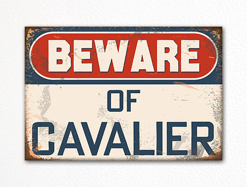 Beware of Cavalier Dog Breed Cute Fridge Magnet