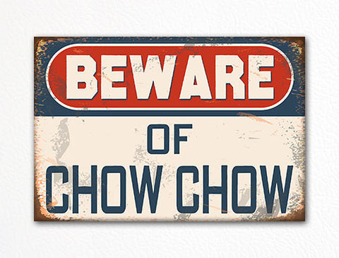Beware of Chow Chow Dog Breed Cute Fridge Magnet