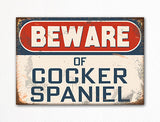 Beware of Cocker Spaniel Dog Breed Cute Fridge Magnet