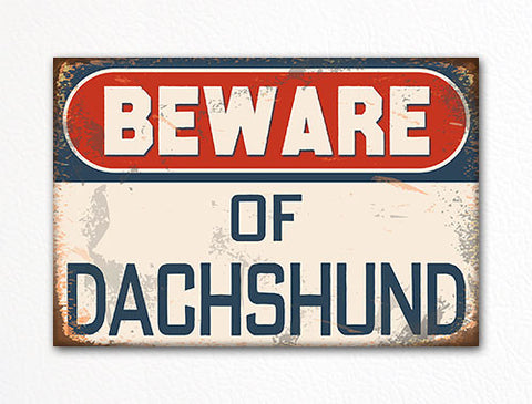 Beware of Dachshund Dog Breed Cute Fridge Magnet