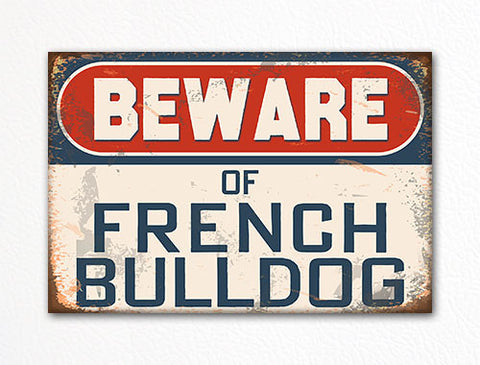 Beware of French Bulldog Dog Breed Cute Fridge Magnet