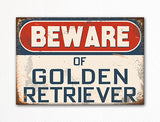 Beware of Golden Retriever Dog Breed Cute Fridge Magnet