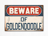 Beware of Goldendoodle Dog Breed Cute Fridge Magnet